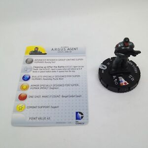 Heroclix-The-Flash-set-ARGUS-Agent-005-Common-figure-w-card