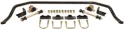"Black 1"" Powder Coated Performance Front Sway Bar For Factory or Drop Axles"