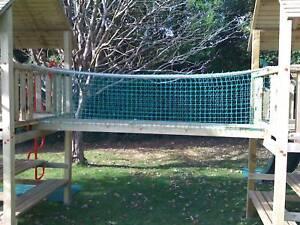 Backyard Rope Bridge rope bridge 8ftx1.5ft includes timbers new netting, cargo net