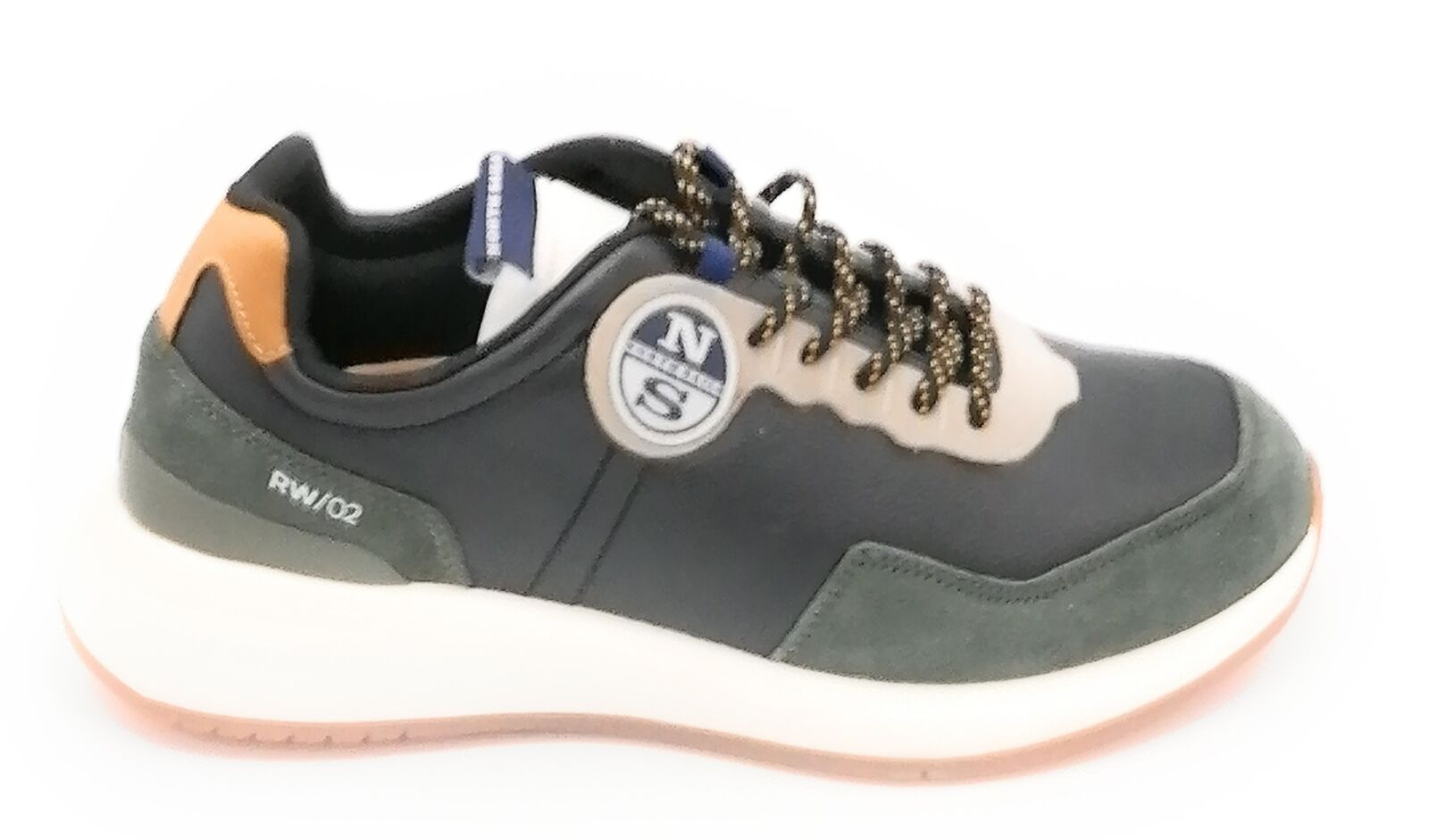 North Sails Rw / 02 Sneakers Leather Nera-Camoscio Military Green 0-1