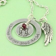 Blessed By Our Baby Angel - Personalized Remembrance Necklace - Memorial Jewelry