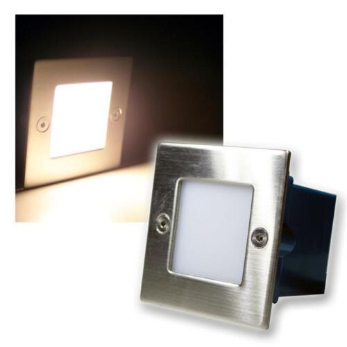 warmweiß LED Wandeinbauleuchte Außen Edelstahl Wandeinbaustrahler 230V Innen