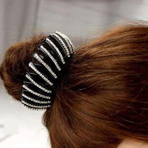 Large Vintage Crystal Thermorétractable Cheveux Clip Pince Clamp Bow Mâchoire Barrette Bud Uk-afficher Le Titre D'origine Pour Convenir à La Commodité Des Gens
