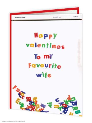 Drôle saint valentin carte Cheeky Comédie Humour COPAIN COPINE Mari Femme