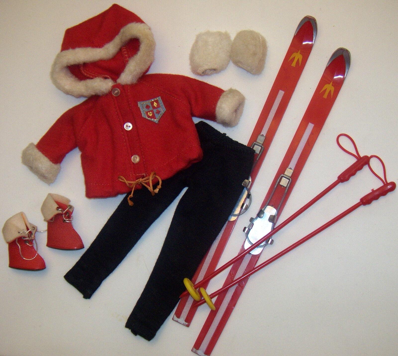 Vintage Tammy Nieve Conejito Esquí Polos Rojo Parka botas Mitones 9211-4 9956-4
