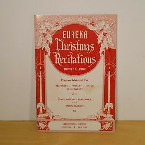 Vintage-1967-Booklet-Eureka-Christmas-Recitations-Number-Five-Songs-Pageants