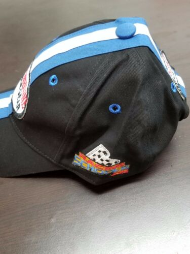 Black and Blue Mens Finishline Race Gear Hat