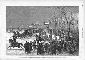 Saint-Petersburg-Russia-Arrival-of-Franz-Joseph-I-of-Austria-ANTIQUE-PRINT-1874