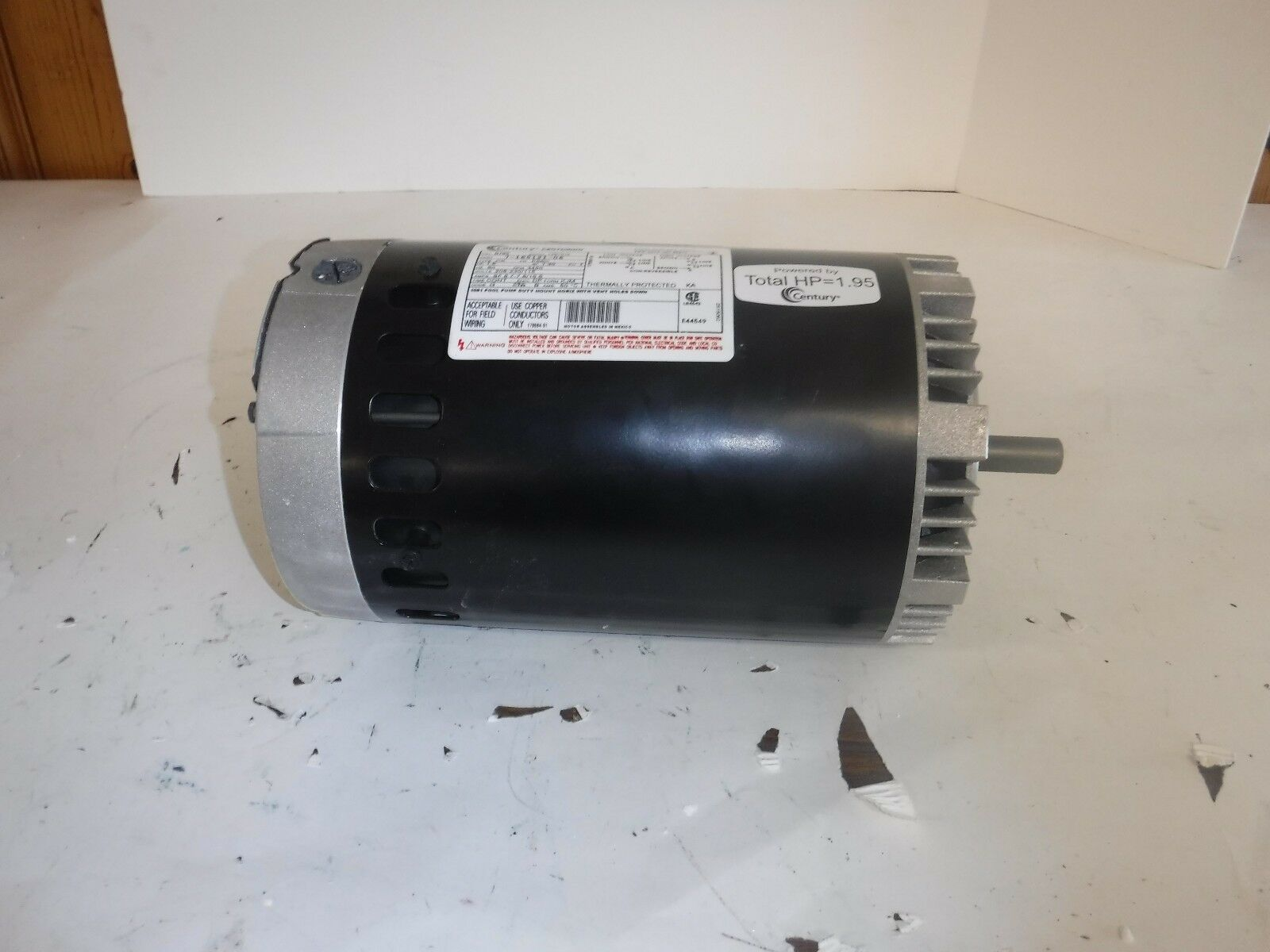 NEW 1-1/2 HP Pool and and and Spa Pump Motor, Permanent Split Capacitor (T) 4ae287