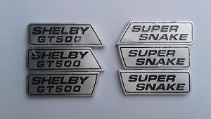 Shelby-GT500-Super-Snake-Wing-Emblem-Set-Rare-New-ORIGINAL-OEM-SHELBY-OBSOLETE