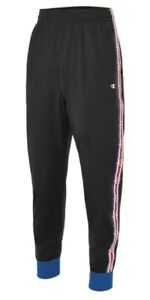 sneakers for cheap fresh styles exclusive deals Details about Champion Men's Taped Track Pants Tapered Fit Black Surf Web  Size L FLOOR MODEL!