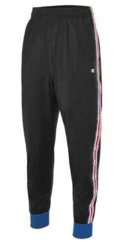 Champion Men/'s Taped Track Pants Tapered Fit Black Surf Web Size L FLOOR MODEL!