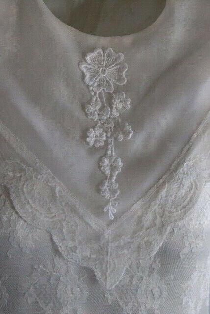 Gunne Sax Ivory Dress Girls Short Sleeve Jessica … - image 9
