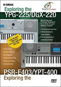 Details About Yamaha Ypg 235 Ypg 225 And Psr E403 Portable Keyboard Dvd