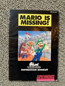 Original-MARIO-is-MISSING-Instruction-Manual-Booklet-Only-SNES-Super-Nintendo