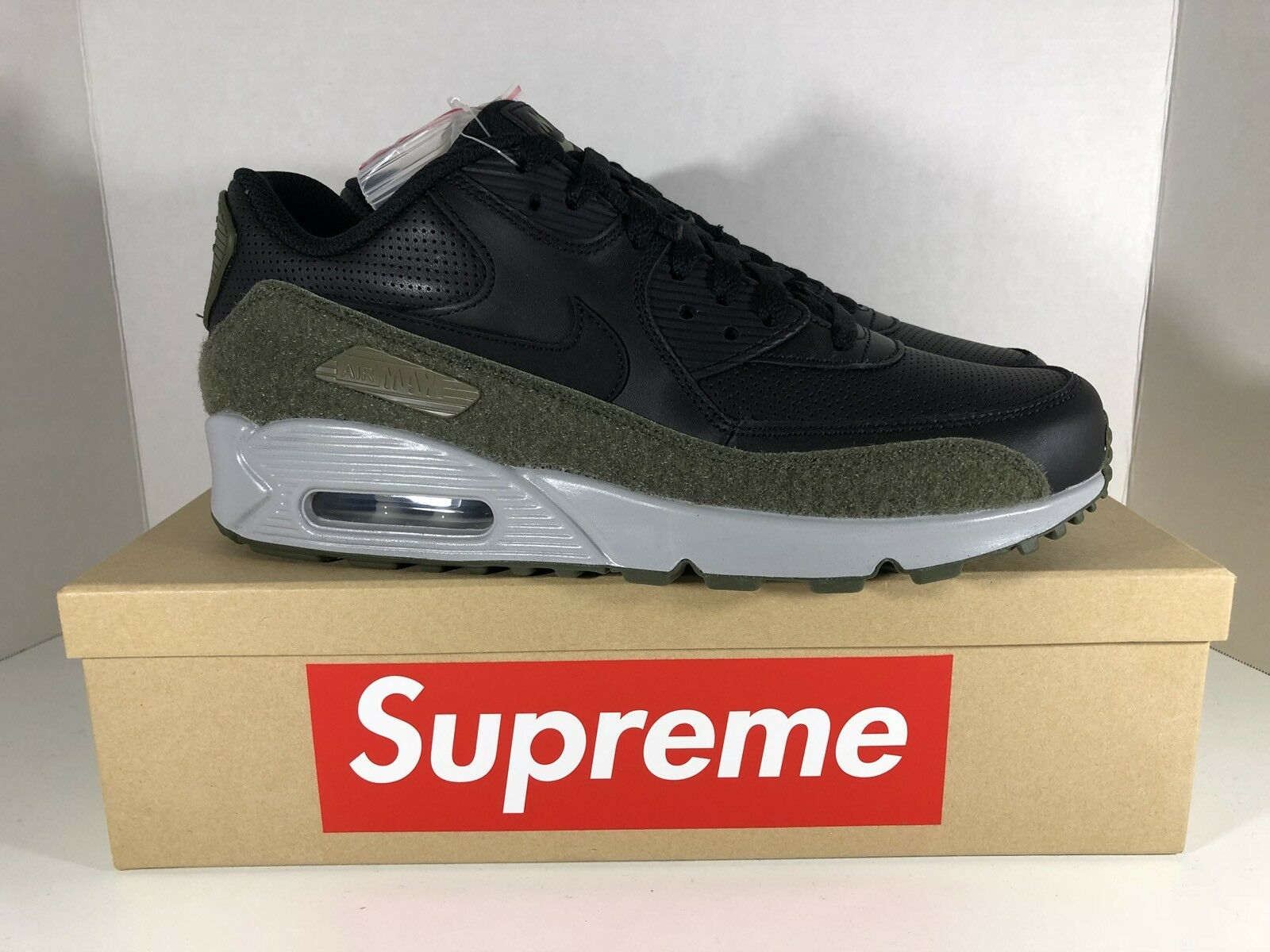 Nike air max 90 uomini hal patch nero medio verde oliva 41
