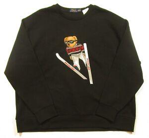 663c6358 Details about Polo Ralph Lauren Big & Tall Men's Black Ski Bear Graphic  Pullover Sweatshirt