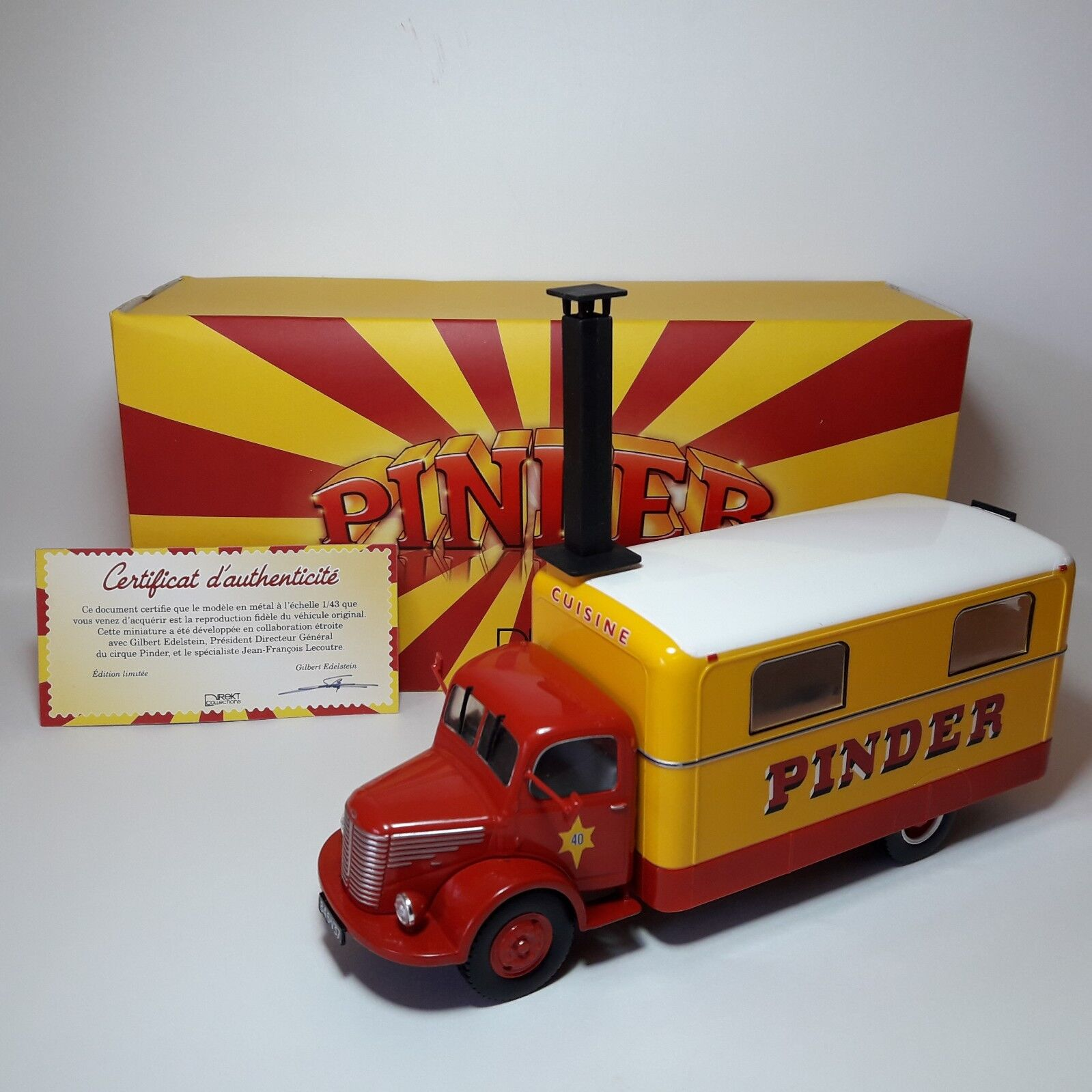 1/43 EXT64 CAMION TRUCK UNIC CIRCO PINDER CUISINE COCINA 1952