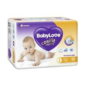 Babylove Unisex Cosifit Infant Nappy 3-8 Kg Size 2 44 pack