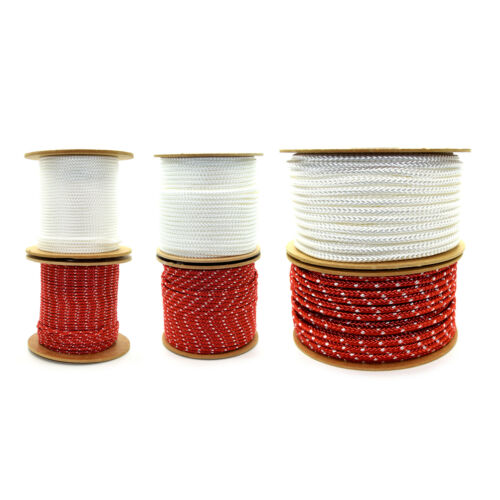 5m Starter Recoil Rope Pull Cord for Petrol Engine Generator Lawnmover 3mm 8mm