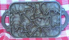 John Wright 12-Cavity Animal Puzzle Mold Cast Iron Pan Copyright 1984