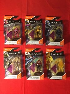 Complete-Set-Of-6-Mega-Bloks-Construx-Halo-Heroes-Series-6-From-2017