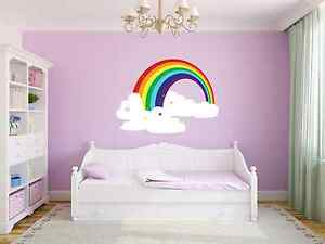 Home Decor Removable Custom Rainbow Cloud Kids Nursery Room Wall Decor Decal Vinyl Sticker Home Furniture Diy Itkart Org