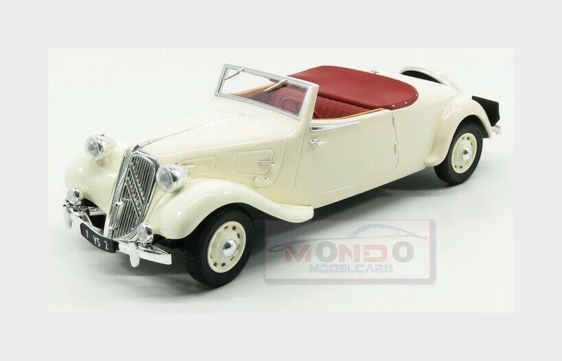 Citroen Traction Avant 11B Cabriolet 1939 Cream NOREV 1 18 NV181440 Miniature
