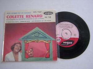 EP-45-TOURS-VINYLE-COLETTE-RENARD-MON-HOMME-EST-UN-GUIGNOL-VG-VG