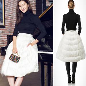 0f526d529f Vogue Womens Thick Down A-Line Knee Length Tutu Skirt Warm High ...