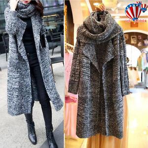 Women-039-s-Hoodie-Casual-Long-Sleeve-Knitted-Cardigan-Coat-Outwear-Sweater-Jacket