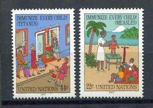 19195-UNITED-NATIONS-New-York-1987-MNH-Tetanus-Measles