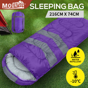 Mountview Sleeping Bag Single Bags Outdoor Camping Hiking Thermal -10℃ Tent