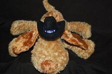 "Puppy Dog 10"" Texas Cowboy Hat Plush Brown Floppy Stuffed Toy Lovey Animal"