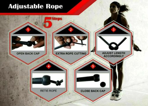 Skipping Rope Nylon Jumping Training Adult Speed Exercise Handle Boxing Fitness