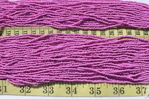 Terra-Opaque-Dark-Orchid-11-0-Czech-Glass-Seed-Beads-Craft-Jewelry-Making-Hank