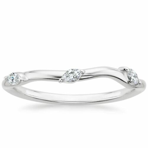 1.65 Ct Nature Inspired Princess Cut Engagement Bridal Ring Set In White Gold