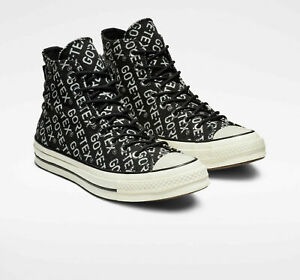 """SNEAKERS CANVAS Mens SHOES BASKETBALL HI TOP 5/"""" ALL BLACK SIZES 6.5 TO 11"""