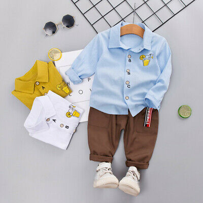 Kids Baby Boy Gentleman Long Sleeve Romper Outfits Jumpsuit Clothes P6