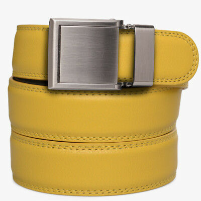SlideBelts Factory Seconds Kids Green Leather Ratchet Belt