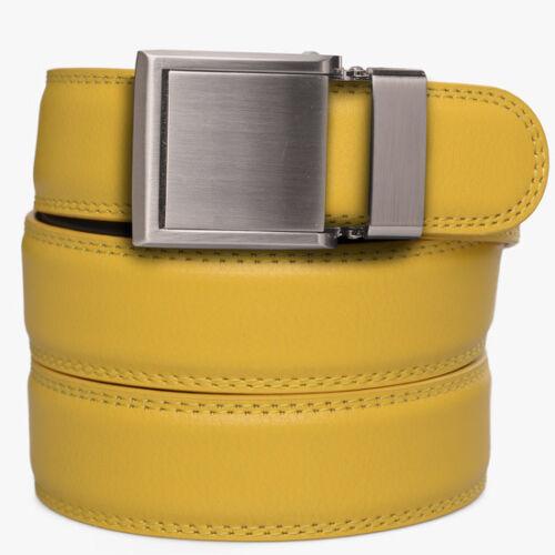 SlideBelts Factory Seconds Kids Yellow Leather Ratchet Belt