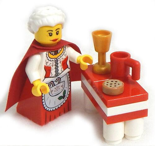 NEW LEGO MRS CLAUS with Eggnog MINIFIGURE figure minifig christmas santa 10245