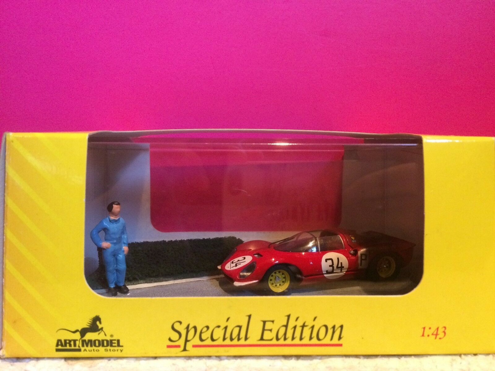 Art model ferrari dino superb diorama 206 nurburgring 1967 new box 1 43 g5