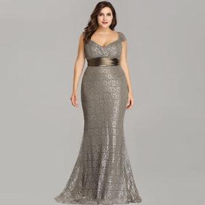 c6f2cbe4514 Ever-Pretty Women Coffee Maxi Formal Evening Dress Long Fishtail ...