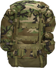 GENUINE MILITARY ISSUE LARGE CFP-90 WOODLAND COMBAT FIELD PACK + PATROL PACK EXC