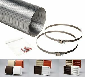 Cooker Hood Venting Kit Kitchen Ducting Extractor Fan 100mm 4 125mm 5 150mm 6 Ebay