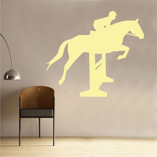 AN44 Show Jumper Wall Sticker Art Kids Girls Riding Room Horse