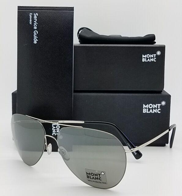 2a05de5cce7fe New Mont Blanc sunglasses MB595S 16A Palladium Black Zeiss Lenses AUTHENTIC  16A