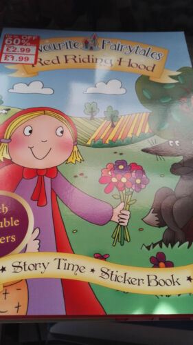 Red Riding Hood SET OF 6 STORYTIME STICKER BOOKS The Ugly Duckling Snow White+