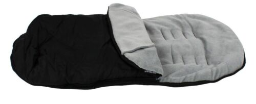 Black And Grey Footmuff With Puches Fits Baby Jogger City Mini Micro Stroller Pu